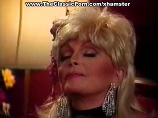 Candy Samples is a blonde vintage porn babe with a set of huge breasts who gets fucked by her man