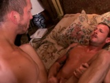 suited muscle hunk cocksucked before anal