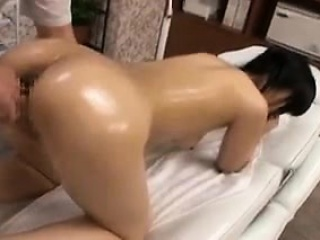 sexy oriental babe gets her tight hairy slit pleased and bl