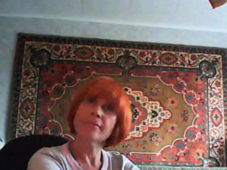 redhead mother is reveling her normal breasts that are humu