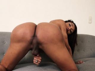 Big booty tgirl fucked so hard