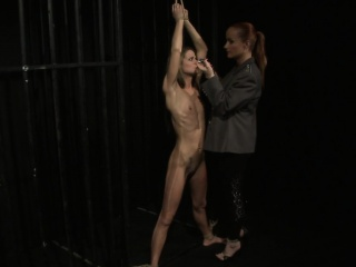 Euro teen punished with lezdom BDSM