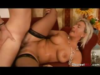 Porn Tube of Hot Blonde Italian Mother