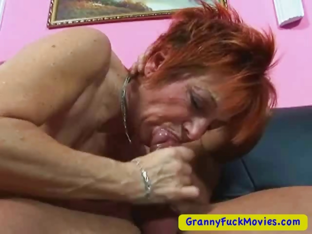 Porno Video of Granny Sucking Cock While Rubbing Pussy