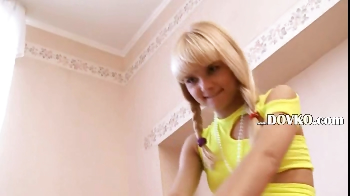Porn Tube of Beautiful Petite Blonde Loly From France