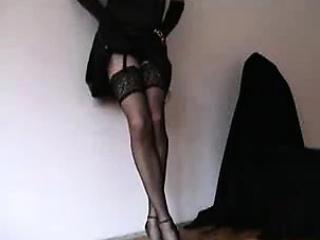 attractive crossdresser in hot underwear reaches your suppo