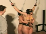 kinky bondage action as senstional diva gets it hard