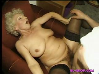 Porn Tube of Hairy Granny Norma Pissing