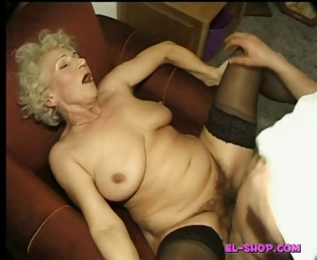 Porno Video of Hairy Granny Norma Pissing