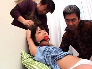 petite japanese cutie gets her hairy beaver pumped full of