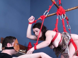slutty cutie is brought in ass hole asylum for painful treat