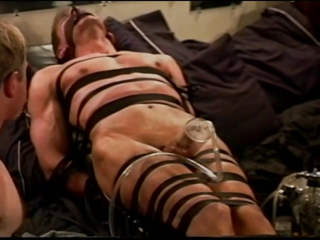 Porn Tube of Extreme Vacuum Pumping Cbt On Leather Bound And Restrained Muscle Guy.