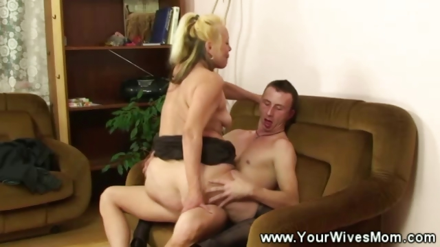 Porno Video of Sexy Granny Riding Cock