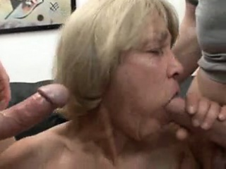 completely slutty granny likes to consider jizz and youthfu