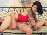 dana lifts her red dress up so she can get pounded hard