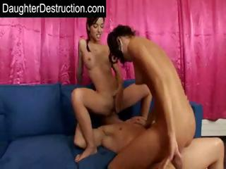 Porno Video of Two Daughters Anal Fucked Hard By Dirty Daddy