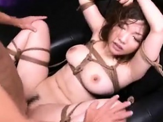 submissive japanese slut with big hooters enjoys an intense