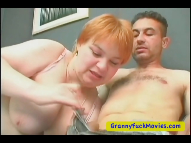 Porn Tube of Fat And Horny Granny Plays With Young Guy