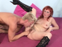 Hairy StepMom Seduce Young Boy to have sex her When Home alone | Porn-Update.com