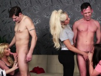 Curvy british femdoms humiliate subs in group | Porn-Update.com