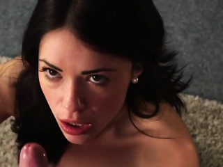 wacky honey gets jizz shot on her face sucking all the cream
