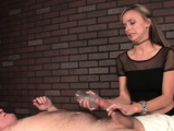 dominant masseuse tugging patients cock