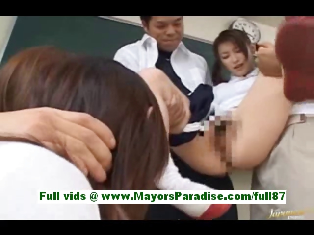Porno Video of Akane Sakura Adorable Japanese Schoolgirls At School