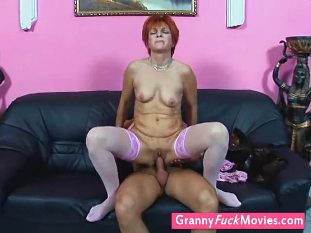 Porn Tube of Grandmother In Stockings Gets Fucked