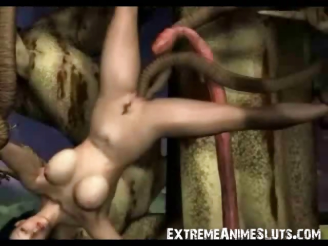 Porno Video of Tentacled Tree Fucks 3d Babe!