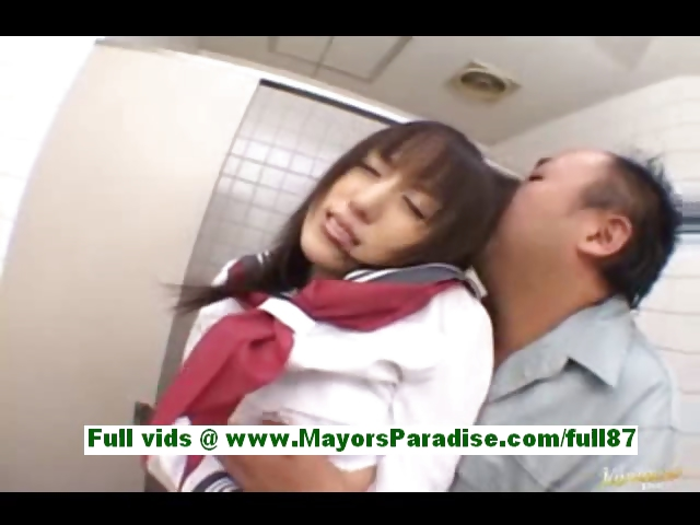 Porno Video of Arisa Kanno Young Japanese Schoolgirl In The Bathroom