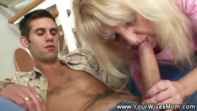 Porn Tube of Old Lady Gets His Cock Hard Using Her Mouth