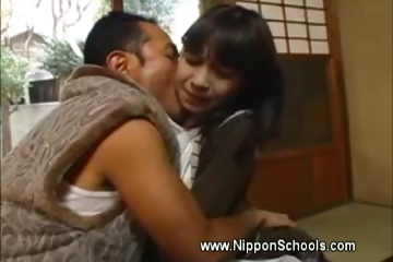 Porn Tube of Japanese Teen Carest By Older Man