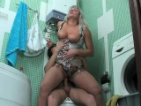 rough blowjob in bathroom by russian milf