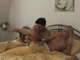his blonde girlfriend and friend cheating