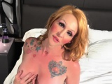 bigboob tranny masturbating in solo action