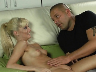 erotic cutie stretches pink cunt and loses virginity