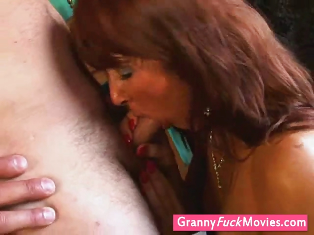 Porn Tube of Superb Grandma Giving Blowjob