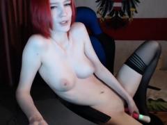 Hogtied redhead hooked pussy toyed