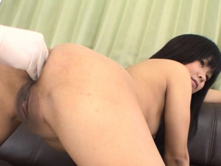 demure asian gives wild blowjob before obscene cleft shaving