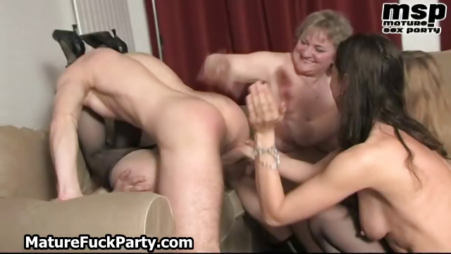 Porn Tube of Four Horny Mature Moms Using And Fucking Part6