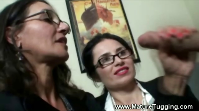 Porn Tube of Two Mature Office Ladies Get Hot At Work