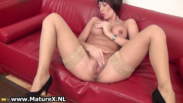 Porn Tube of Mature Lady With Big Fake Tits Loves Part1