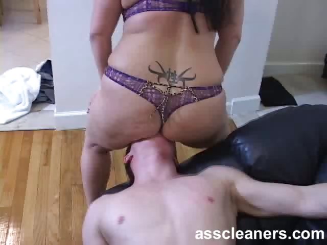 Porno Video of Chubby Mistress Smothers Ass Cleaner With Her Fat Ass Cheeks