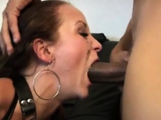 danish whore gets deep throated and anal in latex bondage