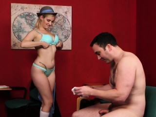 schoolgirl voyeur instructs classmate...