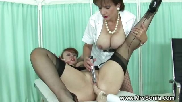 Porno Video of Submissive Lesbian Uses Fucking Machine
