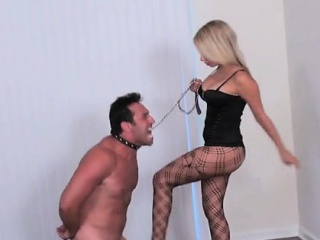 female domination with dominatrix drubbing slave's arse red