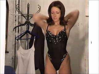 karen white trying on clothes
