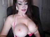 big ass busty latina riding dildo on webcam