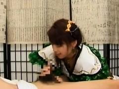 Japanese schoolgirl gets boyfriend to drill her hard at home